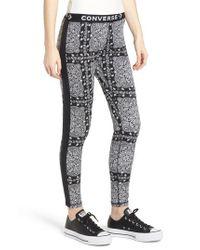 Converse - Black X Miley Cyrus Bandana Print Leggings - Lyst