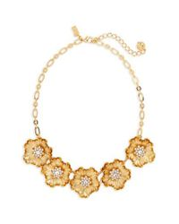 Kate Spade - Metallic Precious Poppies Frontal Necklace - Lyst