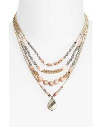 Nakamol - Metallic Multistrand Necklace - Lyst