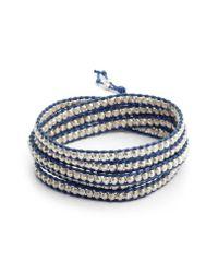 Chan Luu Blue Beaded Multistrand Bracelet