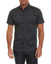 Robert Graham - Black Miki Tailored Fit Print Short Sleeve Sport Shirt for Men - Lyst