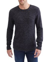 7 For All Mankind Blue 7 For All Mankind Stripe Crewneck Sweater for men