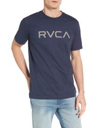 RVCA | Blue Big Graphic T-shirt for Men | Lyst