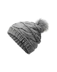 The North Face - Black Triple Cable Pom Beanie - - Lyst