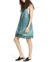Free People - Green Who's Sorry Now Print Slipdress - Lyst