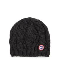 Canada Goose - Multicolor Cable Knit Merino Wool Beanie - Lyst