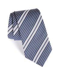 Burberry - Blue Clinton Stripe Silk Tie for Men - Lyst