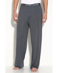 Calvin Klein | Gray 'u1143' Micromodal Lounge Pants for Men | Lyst