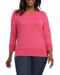 Foxcroft Black Leda Ottoman Rib Sweater