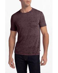 John Varvatos Blue Burnout Slim Fit T-shirt for men