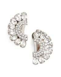 Ben-Amun - Metallic Half Moon Clip Earrings - Lyst