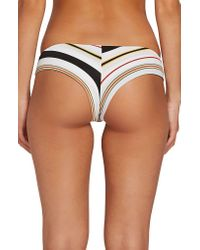 Volcom Multicolor That's Stripe Cheeky Bikini Bottoms