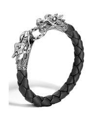 John Hardy | Metallic 'legends' Leather Dragon Bracelet | Lyst