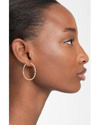 Argento Vivo Metallic Medium Hammered Hoop Earrings