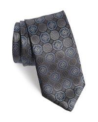David Donahue - Multicolor Medallion Silk Tie for Men - Lyst