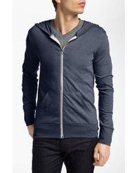 Alternative Apparel   Black Lightweight 'eco-heather' Zip Front Hoodie for Men   Lyst