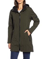 Ilse Jacobsen Black Rain 7 Hooded Water Resistant Coat