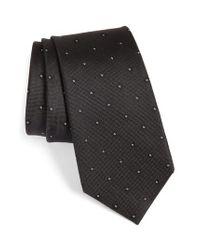 Calibrate | Black Oxford Geometric Silk Tie for Men | Lyst