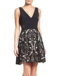 Xscape Black Fit & Flare Dress