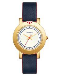 Tory Burch - Metallic Ellsworth Leather Strap Watch - Lyst