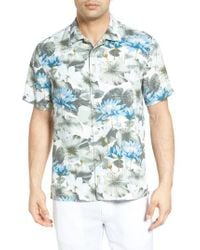 Tommy Bahama | White Garden Of Hope And Courage Silk Camp Shirt for Men | Lyst