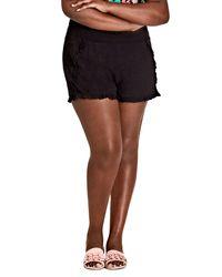 City Chic Black Island Holiday Shorts