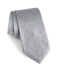 Calibrate - Gray Mulroy Neat Silk Tie for Men - Lyst