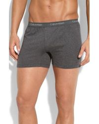 Calvin Klein | Gray 'u1029' Slim Fit Boxer Shorts for Men | Lyst