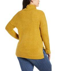 Caslon Green Caslon Cozy Relaxed Turtleneck Sweater