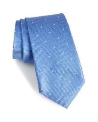Calibrate - Blue Mulroy Neat Silk Tie for Men - Lyst