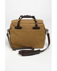Filson Brown Padded Laptop Bag for men
