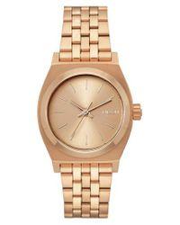 Nixon - Metallic Time Teller Bracelet Watch - Lyst