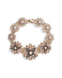 Marchesa | Metallic Crystal Bracelet | Lyst