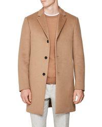 Reiss Natural Gable Wool Epsom Coat for men