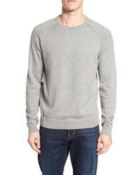 Nordstrom Blue Saddle Shoulder Cotton & Cashmere Sweater for men