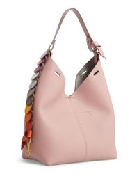 Anya Hindmarch - Pink Small Leather Hobo - Lyst