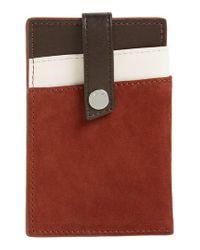 Want Les Essentiels De La Vie - Brown Kennedy Leather Money Clip Card Case - Lyst