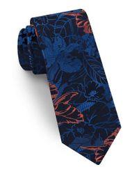 Ted Baker - Orange Floral Silk Tie for Men - Lyst