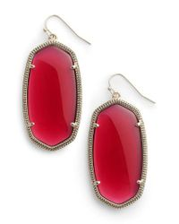 Kendra Scott - Red Danielle - Large Oval Statement Earrings - Lyst