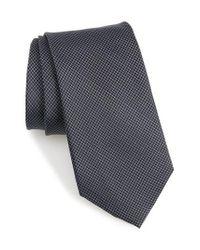 Nordstrom Blue Badini Mini Check Silk Tie for men