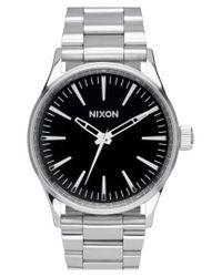 Nixon - Metallic 'the Sentry' Bracelet Watch for Men - Lyst