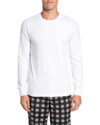 Nordstrom - White Stretch Cotton Long Sleeve T-shirt for Men - Lyst