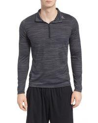 Adidas - Gray Ultimate Tech Quarter Zip Pullover for Men - Lyst