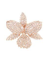 Nina - Multicolor Orchid Swarovski Crystal Pin - Lyst