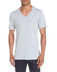 James Perse | Gray Short Sleeve V-neck T-shirt for Men | Lyst