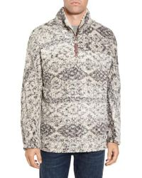 True Grit - Brown Print Frosty Tipped Quarter Zip Pullover for Men - Lyst