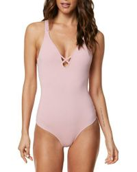 O'neill Sportswear Pink Salt Water One-piece Swimsuit