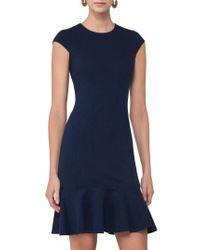 Akris Punto - Blue Flounce Hem Dress - Lyst