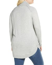 Caslon Gray Caslon Turtleneck Tunic Sweater