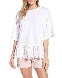 Caslon White Caslon Twofer Sweatshirt